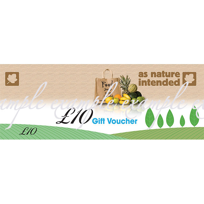 As Nature Intended Store Gift Voucher