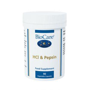 Biocare HCI & Pepsin  90 caps