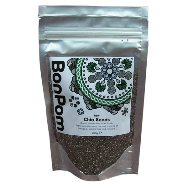 BonPom Raw Chia Seeds 200g