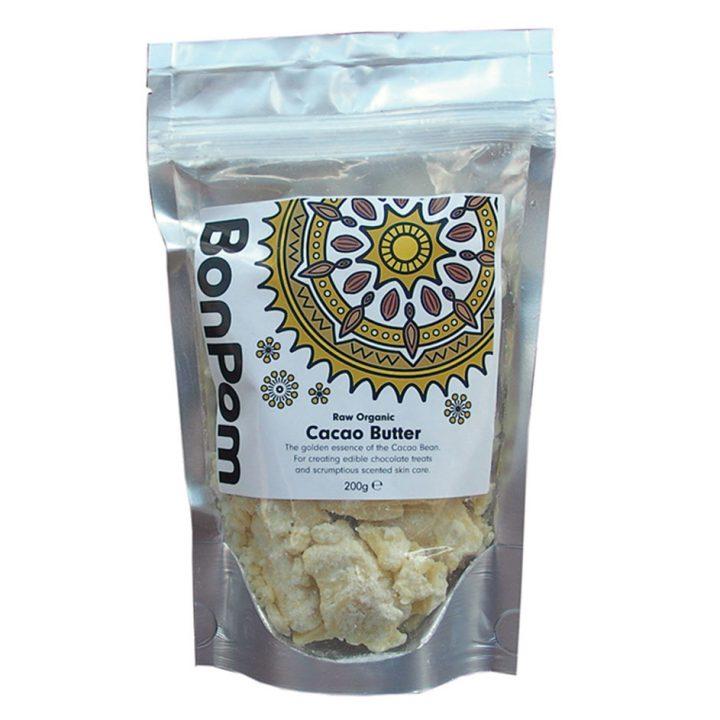 BonPom Raw Organic Cacao Butter 200g