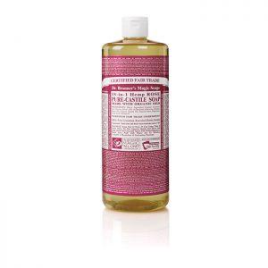 Dr Bronner's Pure Castile Liquid Soap – Rose  946ml