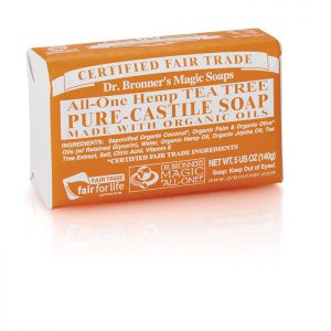 Dr Bronner's Pure Castile Soap Bar – Tea Tree  140g