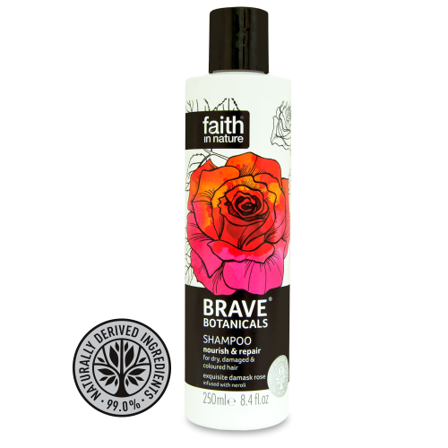 Faith in Nature Brave Botanicals Rose & Neroli Nourish & Repair Shampoo 250ml