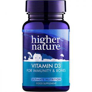 Higher Nature Vitamin D 500iu  60 caps