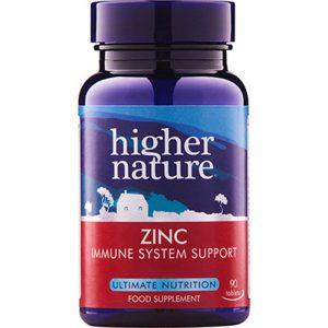 Higher Nature Zinc 20mg  90 tabs