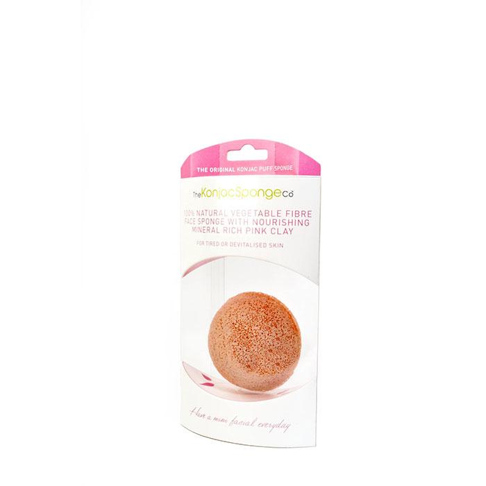 Konjac Sponge Co.-Konjac French Pink Clay Puff Sponge