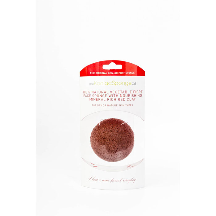 Konjac Sponge Co.-Konjac French Red Clay Puff Sponge