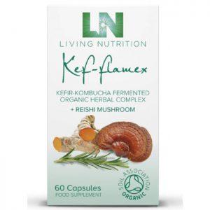 Living Nutrition Kef-Flamex 60 vegetarian capsules
