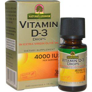 Nature's Answer NA Vitamin D3 Drops 15ml