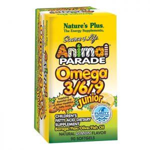 Nature's Plus Animal Parade Omega 3/6/9 Junior Softgels   90 tabs