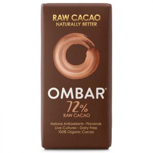 Ombar Organic Raw Chocolate Bar- 72% Raw Cacao 35g