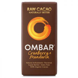 Ombar Organic Raw Chocolate Bar- Cranberry & Mandarin 35g