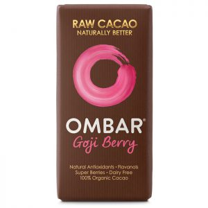 Ombar Organic Raw Chocolate Bar- Goji Berry 35g