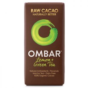 Ombar Organic Raw Chocolate Bar- Lemon & Green Tea 35g