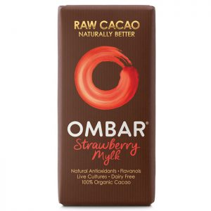 Ombar Organic Raw Chocolate Bar- Strawberry Mylk 35g
