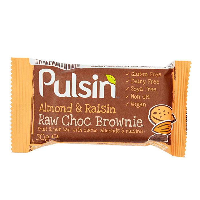Pulsin Almond & Raisin Bar 50g