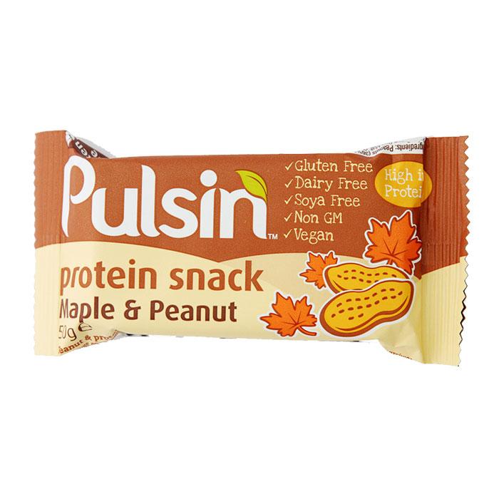 Pulsin Maple & Peanut Bar 50g