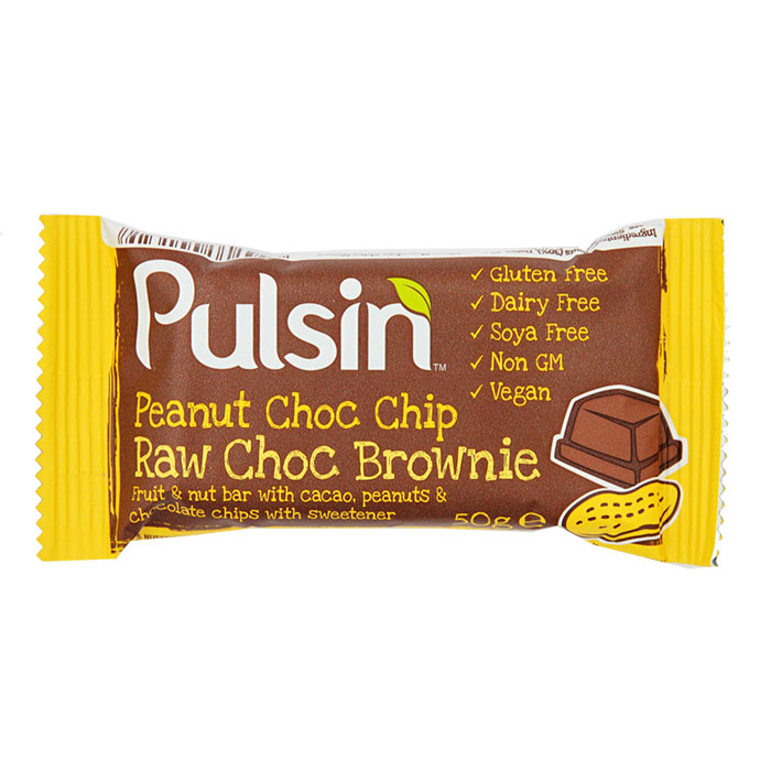Pulsin Peanut Chocolate Chip Bar 50g