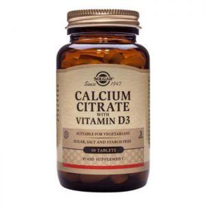 Solgar Calcium Citrate with Vitamin D3  60 tabs