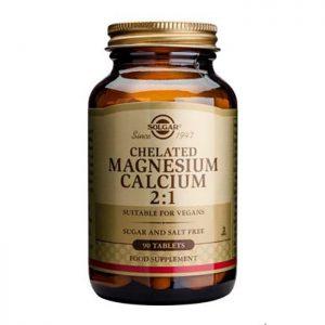 Solgar Chelated Magnesium Calcium 2:1  90 tabs