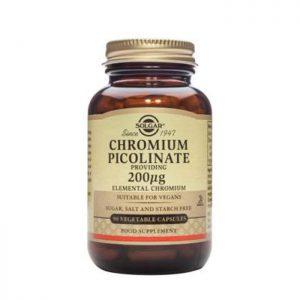 Solgar Chromium Picolinate 200mcg  90 vcaps