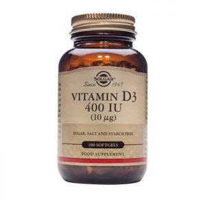Solgar Vitamin D3  400 IU  100 sftgels