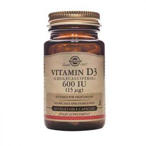 Solgar Vitamin D3  600iu 15ug  60 vcaps