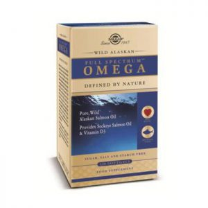Solgar Wild Alaskan Full Spectrum Salmon Oil Omega  120 softgels