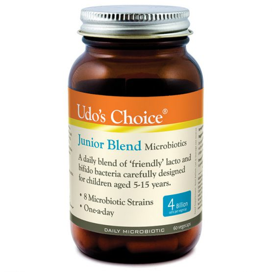 Udo's Choice Junior Blend Microbiotics 5-15 years  60caps