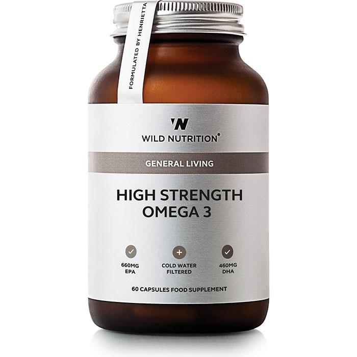 Wild Nutrition High Strength Omega 3 60 Capsules