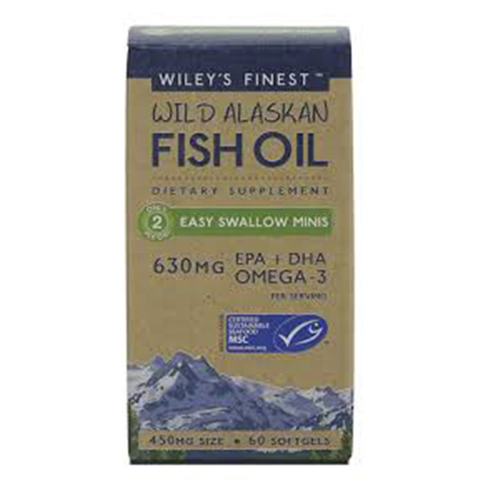 Wiley's Finest Fish Oil Easy Swallow Minis – 60 caps