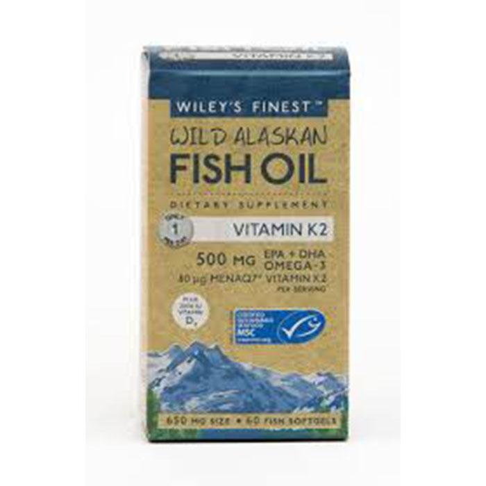 Wiley's Vitamin K2 (500MG EPA+DHA per softgel), 60 caps